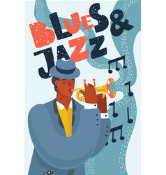blues jazz music poster vector image