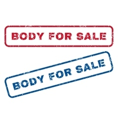 Body For Sale Rubber Stamps vector