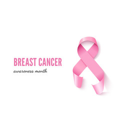 breast cancer banner template with vector image