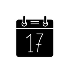 calendar date black icon sign on isolated vector image