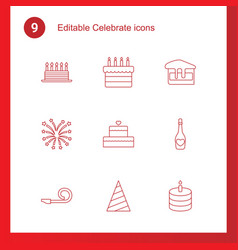 celebrate icons vector image