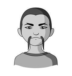 Chinesehuman race single icon in monochrome style vector