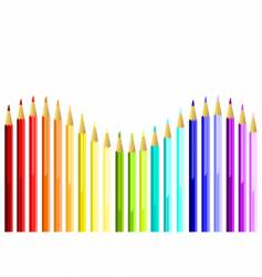 coloured pencils waves vector image
