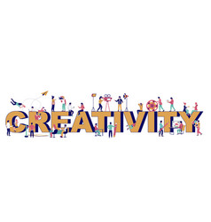 creativity typography banner template flat vector image