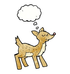 Cute cartoon deer with thought bubble vector