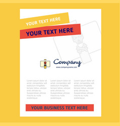 Danger board title page design for company vector