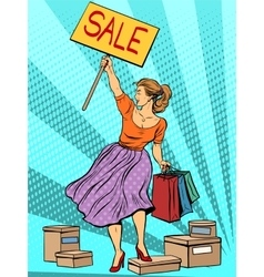 Discount woman sale vector