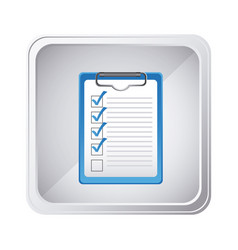 emblem technical services check in the clipboard vector image