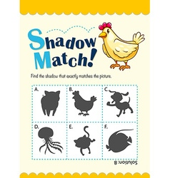 Game template for shadow matching vector image