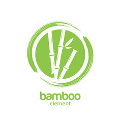 green bamboo graphic design template vector image