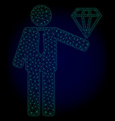 Groom diamond polygonal frame mesh vector