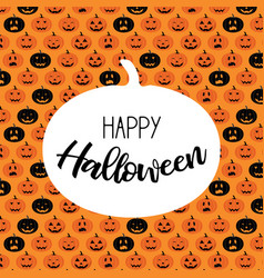 halloween scary pumpkin pattern poster card vector image