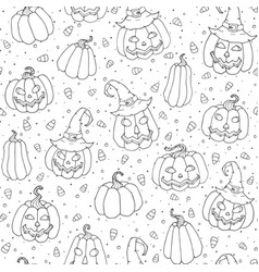 halloween seamless pattern with candy corns vector image