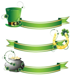 Hat horseshoe and pot with gold vector