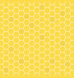 honeycomb yellow colored grid stylish abstract vector image