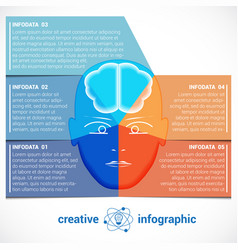 infographic template with abstract head brain vector image