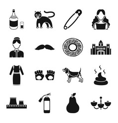 interior alcohol atelier and other web icon in vector image