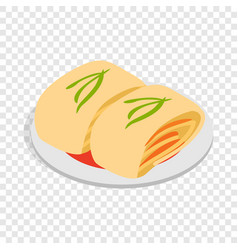 Kimchi korean food isometric icon vector