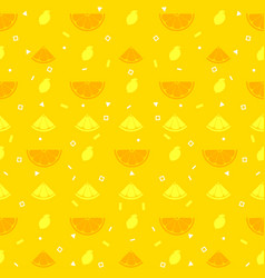 lemon orange fruits seamless pattern background vector image
