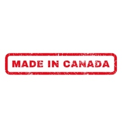Made In Canada Rubber Stamp vector