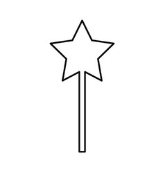 magic wand black icon vector image