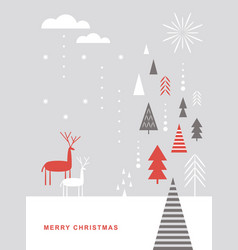 merry christmas christmas card vector image