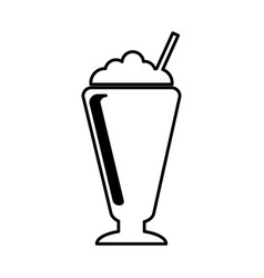 Milkshake silhouette isolated icon vector