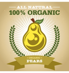 Organic pear vector
