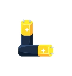 Pair Of Batteries Simplified Icon vector