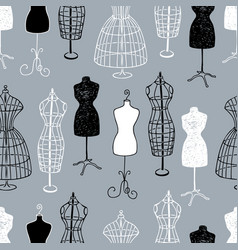 Pattern female mannequins for tailoring vector