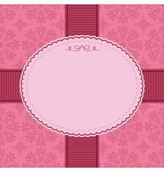 pink frame decoration vector image