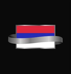 republika srpska flag ribbon banner design vector image