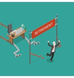 Retirement flat isometric vector