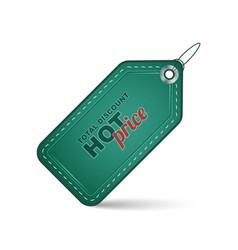 Sale label hot price total discount vector