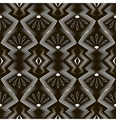 Seamless antique art deco pattern ornament vector image