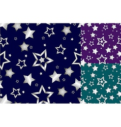 Seamless silver star pattern vector