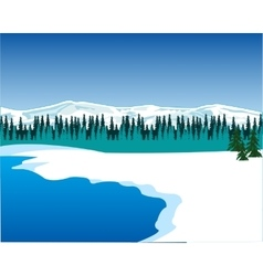 Seeshore in winter vector image