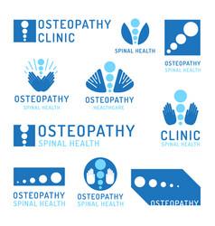 Set logo osteopathy vector