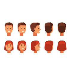 set of human faces vector image