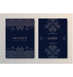 set wedding card templates geometric vector image