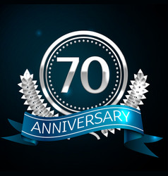 seventy years anniversary celebration design vector image