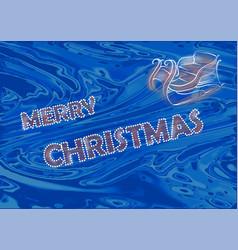 shiny christmas decoration vector image vector image