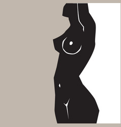 Silhouette fat and slim girls vector