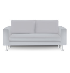 sofa bed with isolated white background vector image