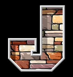 Stone letter J vector