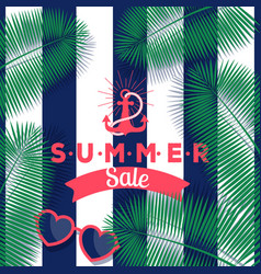 summer sale banner store vector image