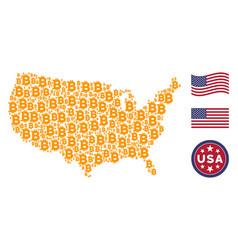 Usa map mosaic of bitcoin vector