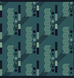 Vertical wave flow seamless pattern vector