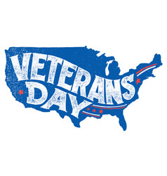 veterans day holiday hand-lettering greeting card vector image