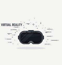 Virtual reality headset vector